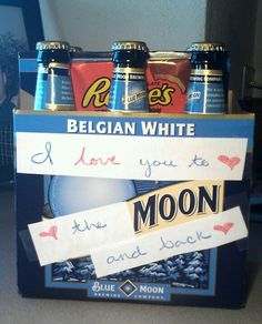 Blue moon v-day gift for husband. Junior would need oranges with this