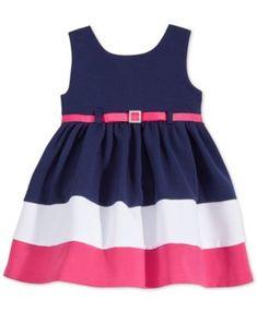 Sweet Heart Rose Baby Girls' Navy & Pink Party Dress | macys.com