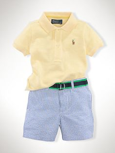 Polo  Seersucker Short Set - Sets   Infant Boy (9M–24M) - RalphLauren.com