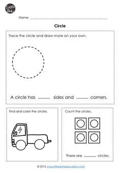 Kindergarten Math Shapes Worksheets and Activities Shapes Worksheet Kindergarten, Shapes Worksheets, Tracing Worksheets, Kindergarten Worksheets, Worksheets For Kids, Math Activities, Kindergarten Learning, Free Preschool, Free Math