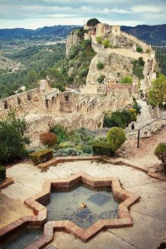 Castle of X'ativa, Valencia, Spain. I would love to go back to Valencia! Places Around The World, Oh The Places You'll Go, Places To Travel, Places To Visit, Around The Worlds, Travel Stuff, Dream Vacations, Vacation Spots, Vacation Travel