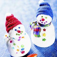 Cute Sock Snowmen Craft