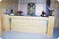 Reception Hall of UG Regal Budget Hotels in Bangalore near railway Station & bus Stand