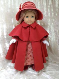 100% Wool Red Cape for Caroline.. $89.00, via Etsy.