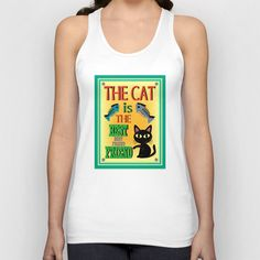 The Cat is the Best Friend Unisex Tank Top by BATKEI