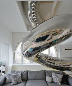 A Giant Twirly Stainless Steel Slide | 36 Things You Obviously Need In Your New Home