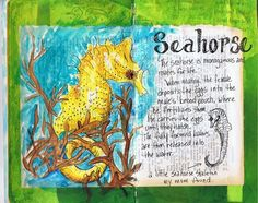 seahorse #art #journal