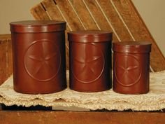 Canister Set Red Texas Lone Star
