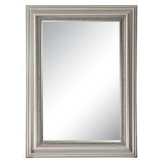 Rectangle Stuart Beaded Decorative Wall Mirror Silver - Uttermost : Target