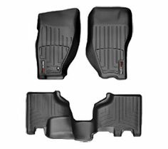 WeatherTech digital-fit all-weather floormats, front and rear, Jeep Compass 2015