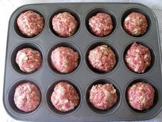 Köttbullar i muffinsform - Culinette - De mest utsökta recep Meat Recipes, Snack Recipes, How To Cook Meatballs, Good Food, Yummy Food, Snacks Für Party, Dinner Is Served, High Tea, Meatloaf