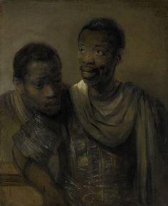 Two Negroes, Rembrandt Harmenszoon van Rijn (1661). Mauritshuis, The Hague.