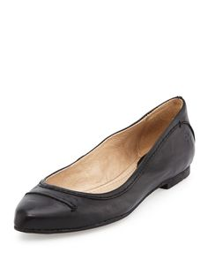 Designer Clothes, Shoes & Bags for Women Black Ballet Flats, Leather Ballet Flats, Black Flats, Leather Shoes, Celebrity Shoes, Shoe Sites, Frye Shoes, Loafers, Pumps