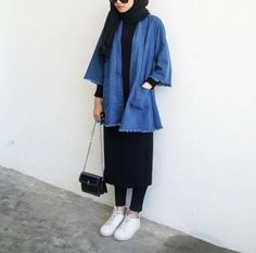 27 ideas for style hijab kulot jeans – Hijab Fashion 2020 Modern Hijab Fashion, Street Hijab Fashion, Hijab Fashion Inspiration, Muslim Fashion, Modest Fashion, Fashion Clothes, Trendy Fashion, Hijab Casual, Hijab Chic