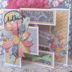 A clever Trifold Folk Song card by Design member, Angie