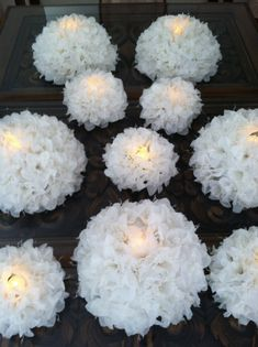 Spring wedding floating candle pool decoration by Baby Bahar