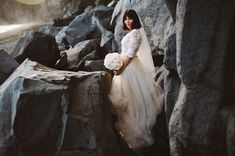 tulle skirt wedding dress by Emily Riggs