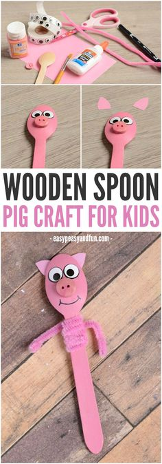 wooden spoon pig craft animal puppets wooden spoon puppets waldorf by 5783