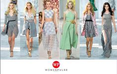 Gingham Prints Sping 2015 Fashion Trends http://womenpulse.com/15-spring-2015-fashion-trends/