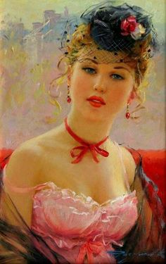 View Portrait of Elodie by Konstantin Razumov on artnet. Browse upcoming and past auction lots by Konstantin Razumov. Woman Painting, Figure Painting, Painting & Drawing, Portrait Art, Beautiful Paintings, Belle Photo, Love Art, Female Art, Creative Art