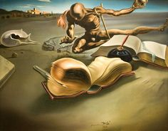 Book Transforming Itself into a Nude Woman - Dali Salvador L'art Salvador Dali, Salvador Dali Paintings, Surrealism Painting, Oil Painting Abstract, Dali Quotes, Catalogue Raisonne, Vladimir Kush, Rene Magritte, Spanish Artists
