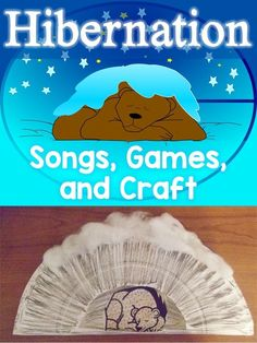 Free hibernation songs, games, and hibernating bear craft. Perfect for classrooms during the winter season.