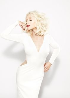 "Christina Aguilera ""Woman"" A Fragrance and her essence Christina Aguilera, Divas, Beautiful Christina, Annasophia Robb, Zooey Deschanel, Natalie Portman, Emma Watson, Celebrity Style, White Dress"