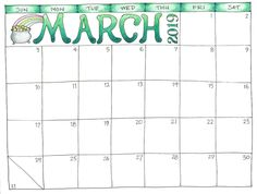 Printable Calendar March 2019.64 Best March 2019 Calendar Printable Images