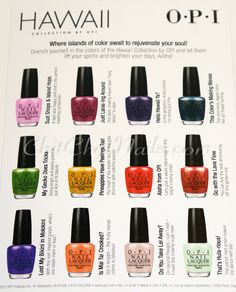 opi hawaii collection for spring summer 2015 halal nail polish