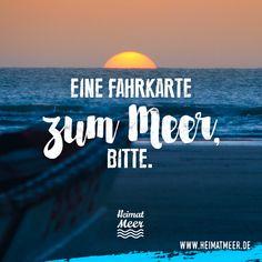 Eine Fahrkarte zum Meer bitte. Mee(h)r >>