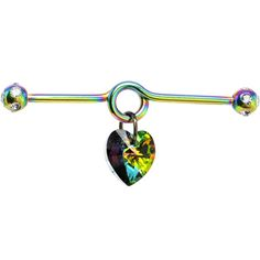 Body Candy Handcrafted Rainbow Anodized Steel Crystal Heart Dangle Helix Earring Industrial Barbell 14 Gauge -- Very kind of your presence to drop by to see our image. (This is our affiliate link) Industrial Piercing Jewelry, Industrial Piercing Barbells, Industrial Barbell, Industrial Bar Earring, Industrial Bars, Barbell Piercing, Body Jewelry Shop, Ear Jewelry, Cute Jewelry