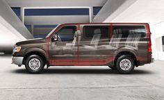 Nissan 12 Seat NV passenger Van - our next van!  The seats configure over 300 different ways!