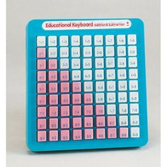 Educational Keyboard---we definitely had one of these in the classroom...you push it in when you get the answer.