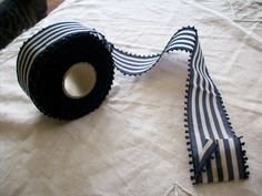 antique striped picot taffeta ribbon