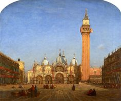La Basilique Saint Marc, vue du musee Correr , by Felix Ziem