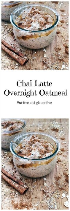 Chai Latte Overnight Oatmeal - if you are a chai latte addict, this recipe is for you. QUICK AND EASY | lemonthymes.com