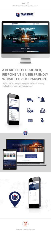Responsive website design and development, UX, UI and user friendly. Design & Development by Fox & Lee #websitedesign #websitedevelopment #transport #website #responsive