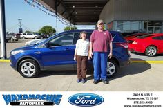 https://flic.kr/p/KqPcPA | Happy Anniversary to Sandra on your #Ford #Escape from Patrick Pennington at Waxahachie Ford! | deliverymaxx.com/DealerReviews.aspx?DealerCode=E749