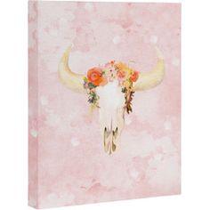 Romantic Boho Buffalo Canvas Print