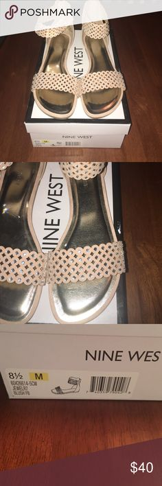 Nine West shoes Absolutely gorgeous with rhinestone detail. Color is blush Nine West Shoes