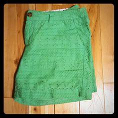 🎀🎀 Merona Green Shorts! Green patterned shorts!  5 inch in length! ??  Make me an offer :) Merona Shorts