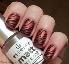 Konad M69, Zebra, Black/Terracotta, Matte
