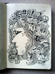 DAILY DOODLES #10 | Medusa.