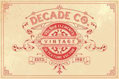 Professional, High-Quality Vintage Fonts and Shapes Bundle - only $19! - MightyDeals