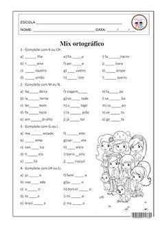 SOSPROFESSOR-ATIVIDADES: Mix ortográfico Motor Skills Activities, Fine Motor Skills, Toddler Activities, Portuguese Language, Free Preschool, English Class, Primary School, Professor, Classroom