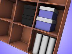 How to Make a Cardboard Box Storage System -- via wikiHow.com