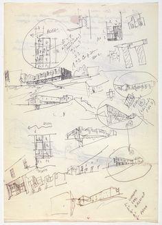 Álvaro Siza. SAAL S. Victor Social Housing, Porto, Portugal (recto), SAAL Bouça Social Housing, Porto, Portugal (verso). 1974-1977