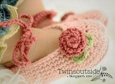 Pink Baby Ballet Shoes, Crochet Baby Shoes
