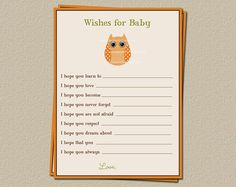 Autumn Baby Wishes Cards with Pumpkins and or by TheInviteLadyShop, $15.00