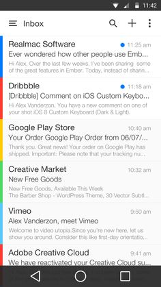 Android L Mail App